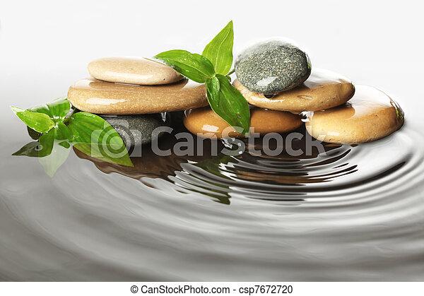 Stones in water - csp7672720
