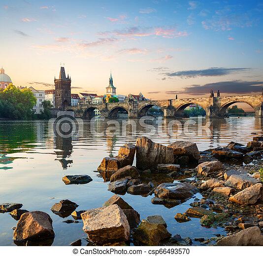 Stones on Vltava river - csp66493570