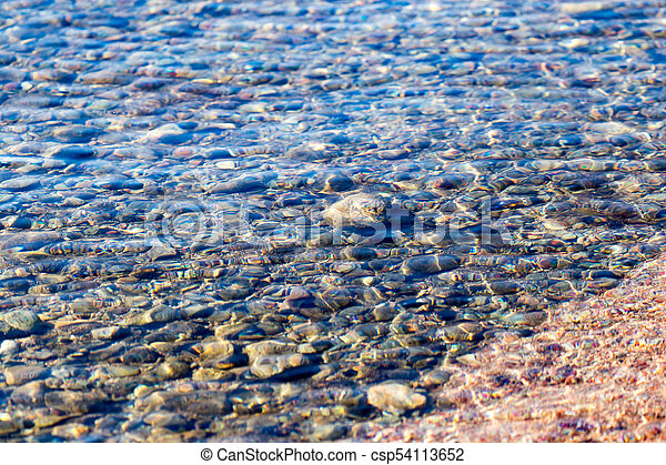 stones under the surface of the water - csp54113652