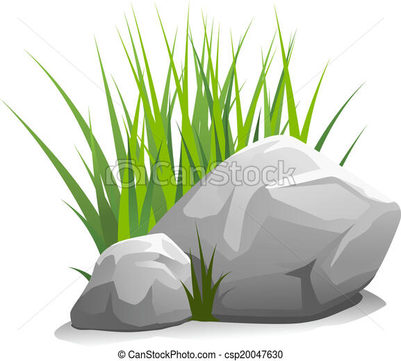 stones with grass composition of two stones and green grass rh canstockphoto com