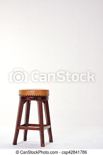stool isolated on white background - csp42841786