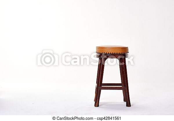 stool isolated on white background - csp42841561