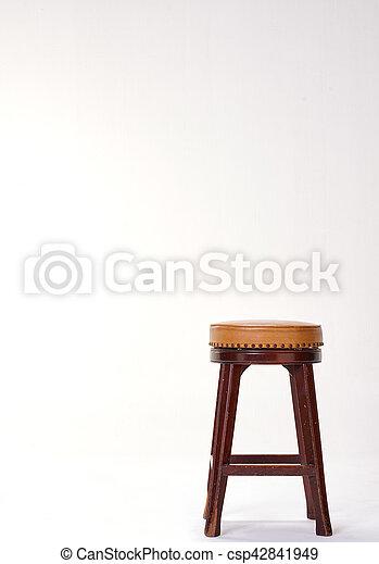 stool isolated on white background - csp42841949