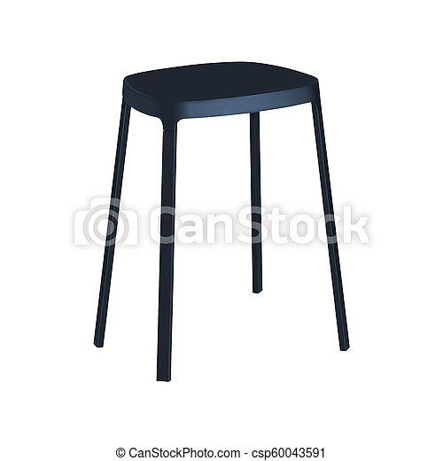 stool isolated on white background - csp60043591