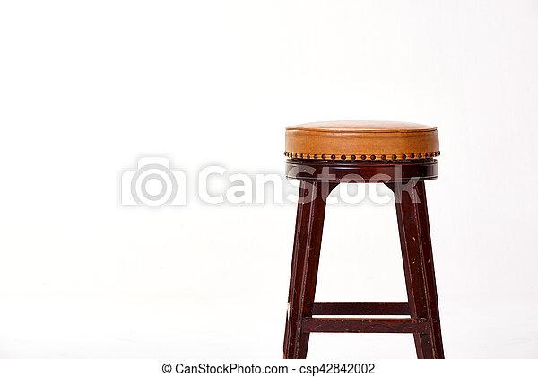stool isolated on white background - csp42842002