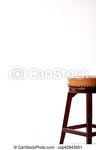 stool isolated on white background - csp42843601