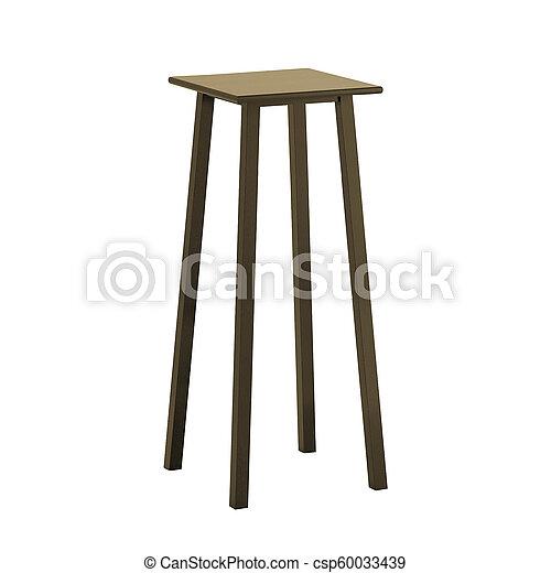 stool isolated on white background - csp60033439