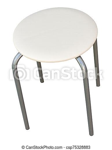 stool isolated on white - csp75328883