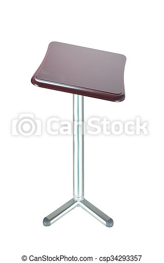 stool isolated on white - csp34293357