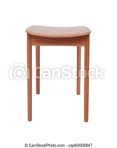 stool isolated on white - csp60056847