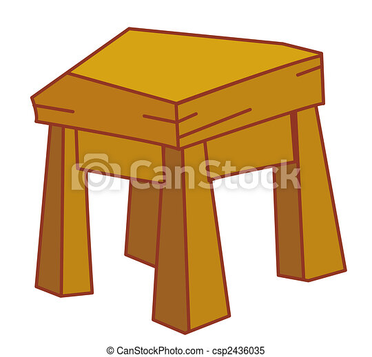Illustration drawing of a stool isolate in a white... stock ...