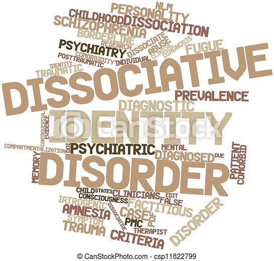 stoornis, dissociative, identiteit - csp11822799