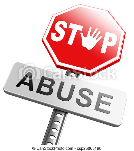 stop abuse stop child abuse or misuse of power and domestic rh canstockphoto com Neglect Clip Art Abuse and Neglect Clip Art