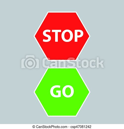 Go Sign Icon Stop and go sig...