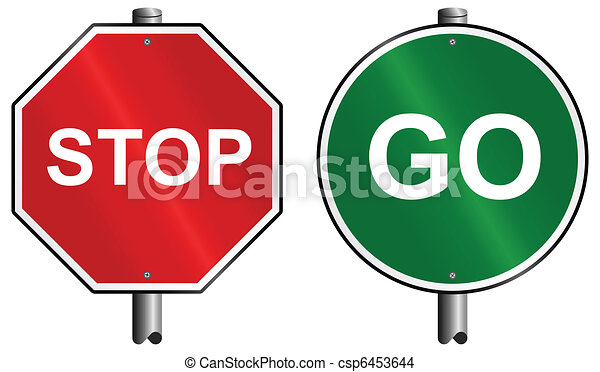 Stop and go signs - csp6453644