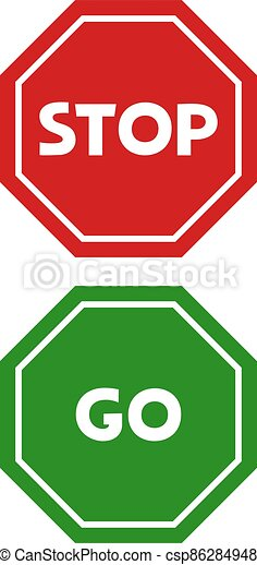 stop and go signs - csp86284948