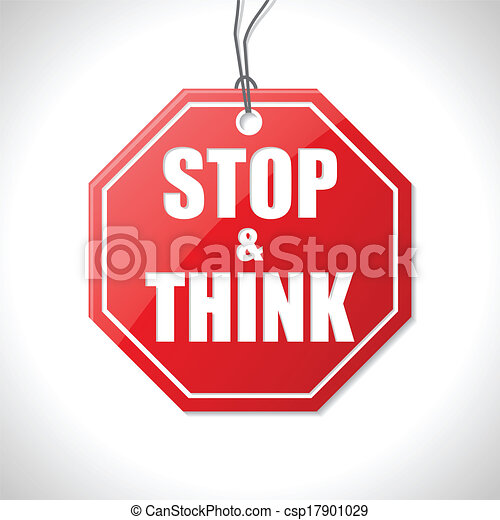 Stop and think label - csp17901029