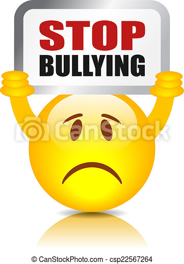 stop bullying sign isolated on white background clip art vector rh canstockphoto ca School Bullying Cartoons Stop Bullying Clip Art