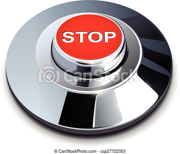 Stop button - csp27722353