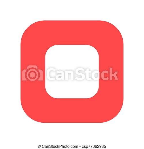 Stop button flat vector icon - csp77062935