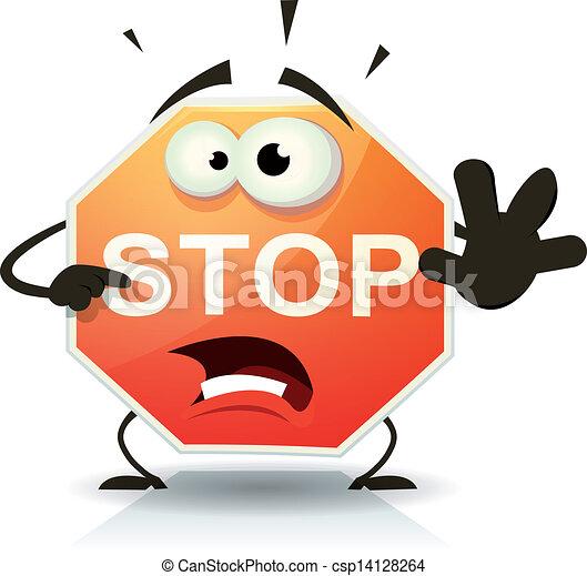 stop, caractère, route, icône - csp14128264