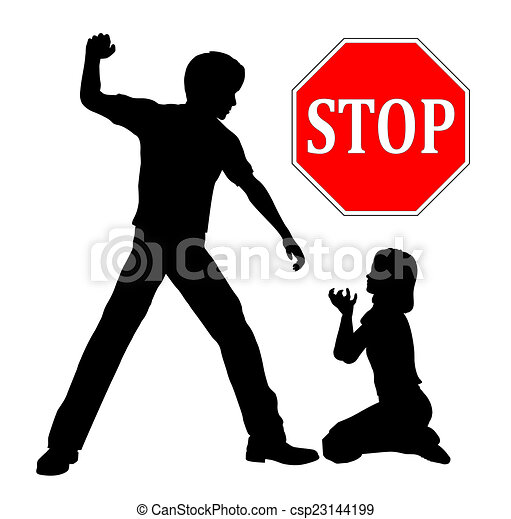stop child abuse the father must stop domestic violence beating up rh canstockphoto com Domestic Violence Clip Art Abuse Clip Art Black and White