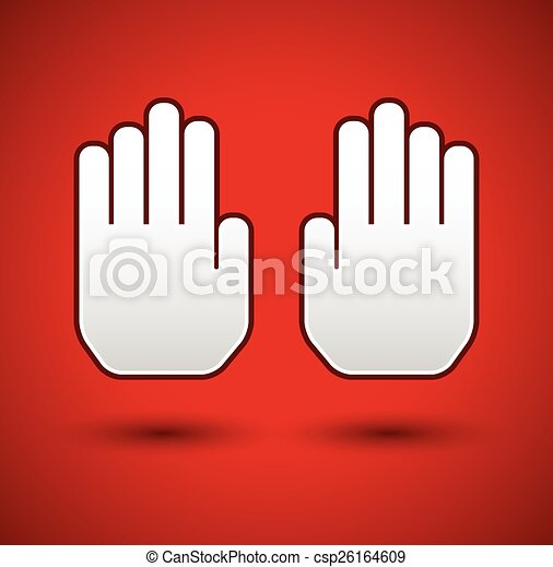 Stop Concept Background Hand Gesture Palms As Stop Vector