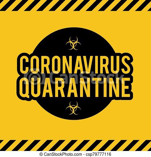 Stop Coronavirus COVID-2019 on blue background. Virus 2019-nCoV cells. - csp79777116