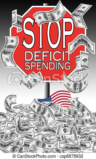 stop deficit spending the united states have accumulated huge debts