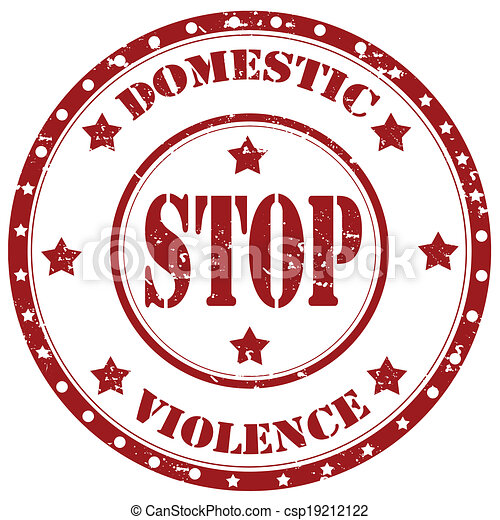 Stop Domestic Violence Stamp Grunge Rubber Stamp With Text Stop
