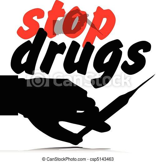 stop drugs illustration - csp5143463