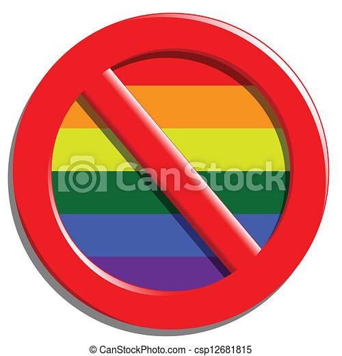 Stop gays - csp12681815