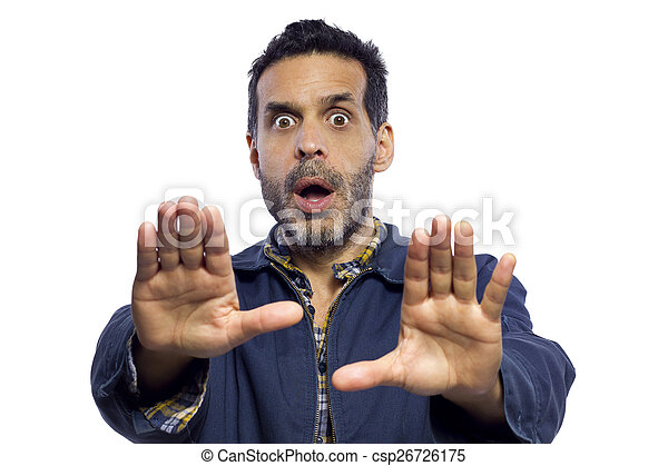 Stop Gesture - csp26726175