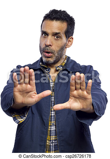 Stop Gesture - csp26726178