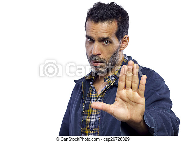 Stop Gesture - csp26726329