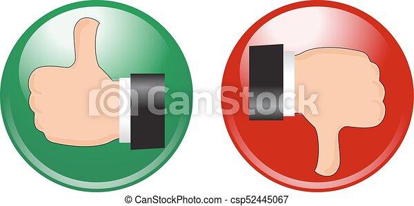 Stop Go Buttons - csp52445067