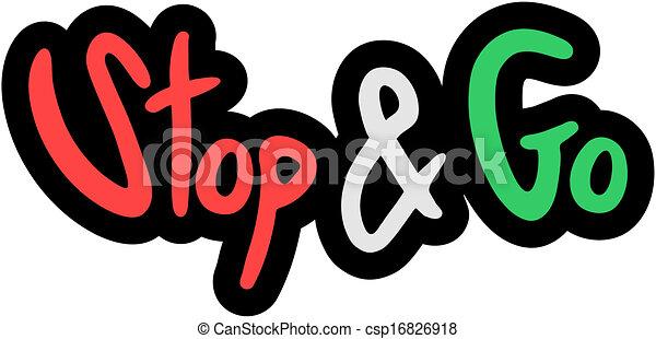 Stop & go - csp16826918