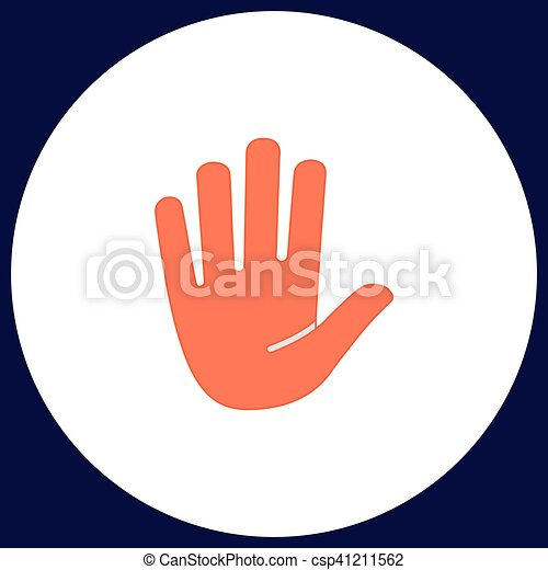 Stop Hand Computer Symbol Stop Hand Simple Vector Button Clip