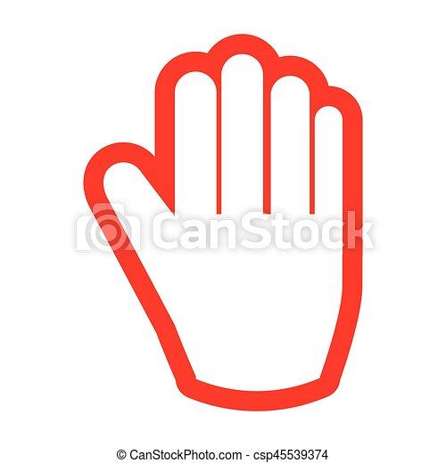 Stop Hand Human Red Vector Illustration Design Vectors Illustration