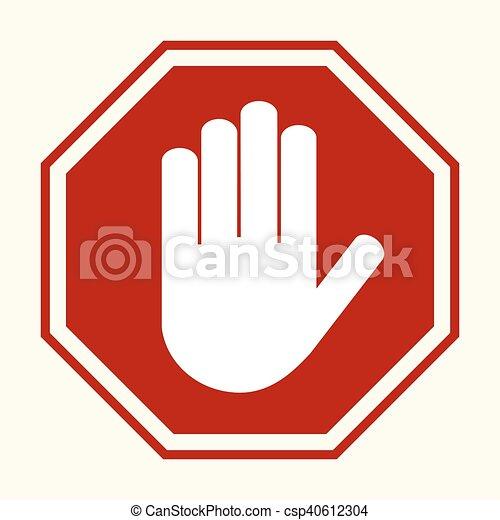 Stop hand sing - csp40612304