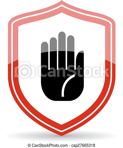 Stop Hand Symbol On White Background Vector Clip Art Search