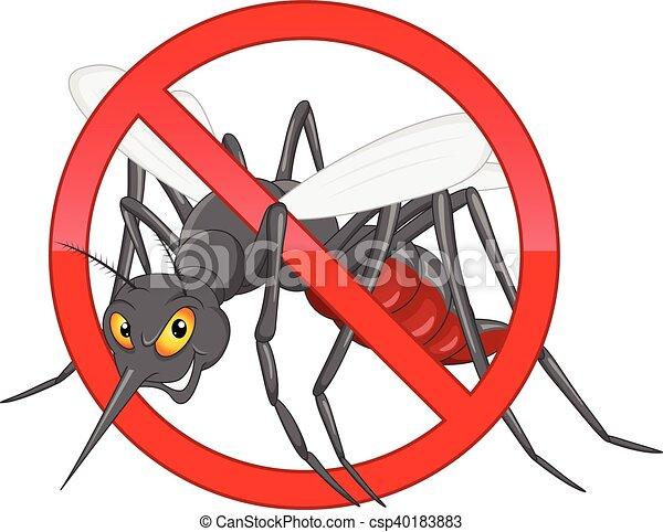 stop mosquito cartoon - csp40183883