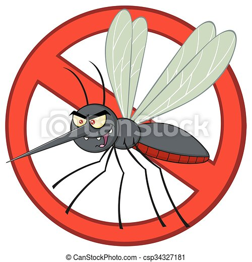 Stop Mosquito Character  - csp34327181