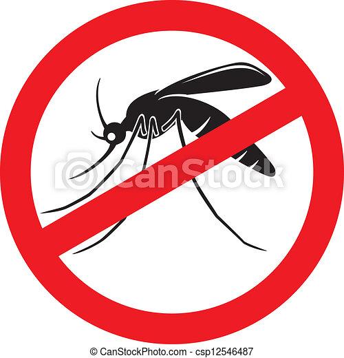 stop mosquito sign - csp12546487