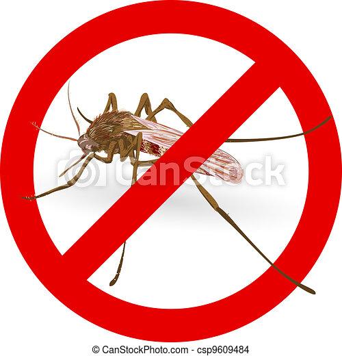 Stop mosquito sign. - csp9609484