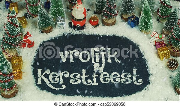 Merry Christmas In Dutch.Stop Motion Animation Of Vrolijk Kerstfeest Dutch In English Merry Christmas