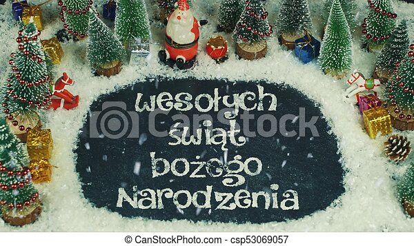 Merry Christmas In Polish.Stop Motion Animation Of Weso Ych Wi T Bo Ego Narodzenia Polish In English Merry Christmas