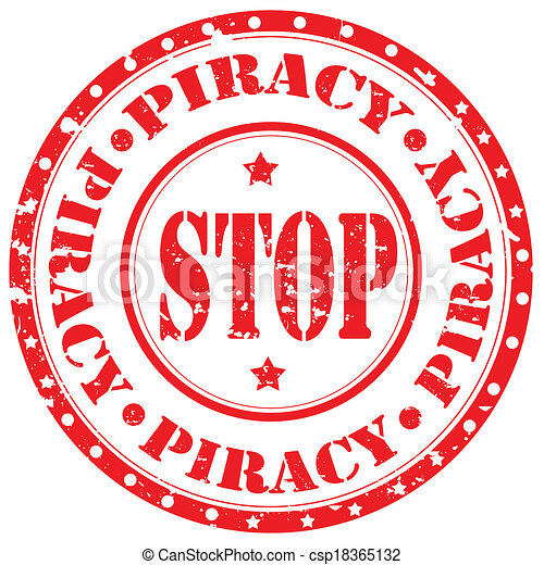 Stop Piracy-stamp - csp18365132