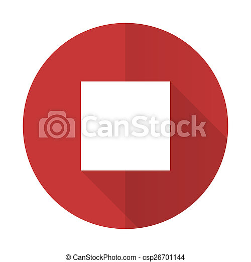 stop red flat icon - csp26701144