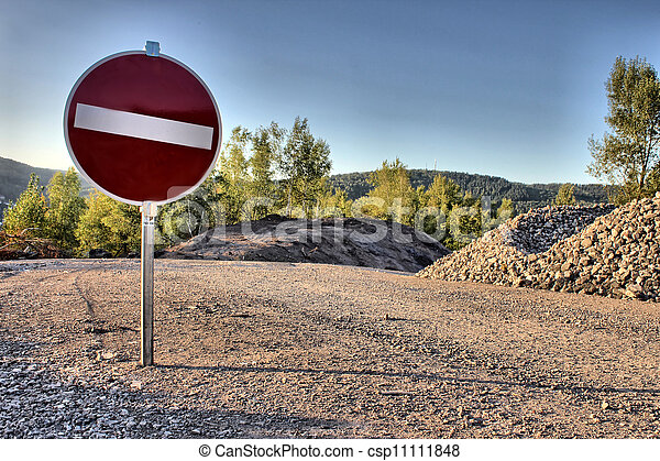stop sign as hdr picture - csp11111848